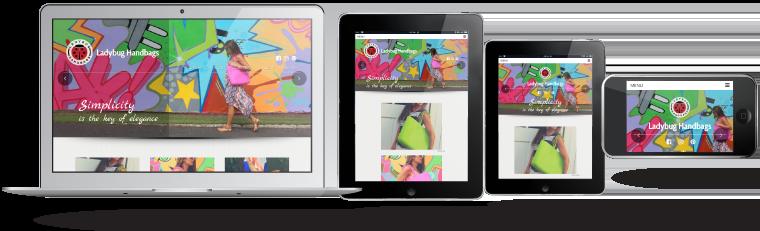 portafolio ladybughandbag.com diseño responsivo por webs.gt
