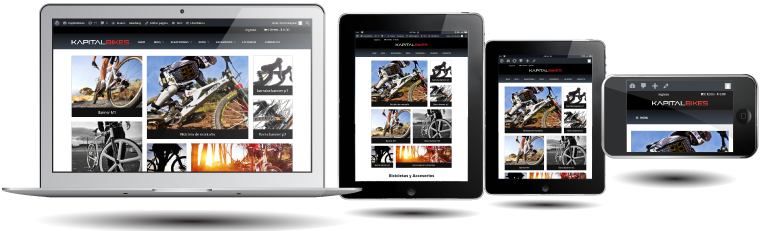 portafolio KapitalBikes.com diseño responsivo