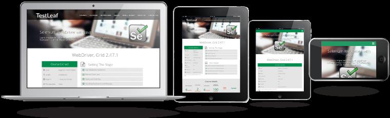 portafolio testleaf.com diseño responsivo